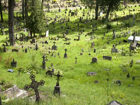 vilnius: General view of Rasos cemetery in Vilnius Stock Photo
