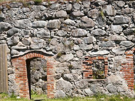ruin: Detail from Kronoberg Castle ruin near Vaxjo in Sweden Stock Photo