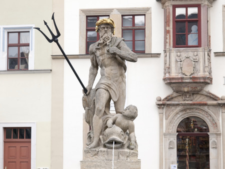 atraction: The Neptune fountain in Weimar
