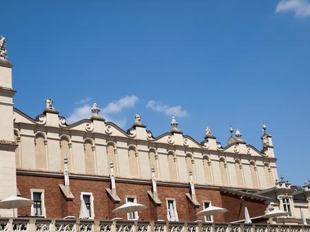 krakow: The renaissance-attic of cloth hall in krakow Stock Photo