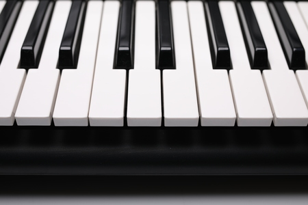Instruments keys, Piano black and white buttons. Imagens