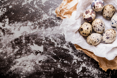 Ecological quail eggs, a natural composition of eggs