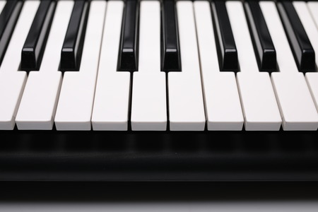 Instruments keys, black and white buttons. Imagens