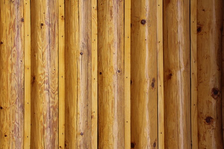 Background with wooden round logs. Stock fotó