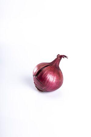Product on a white background. Red onion Фото со стока
