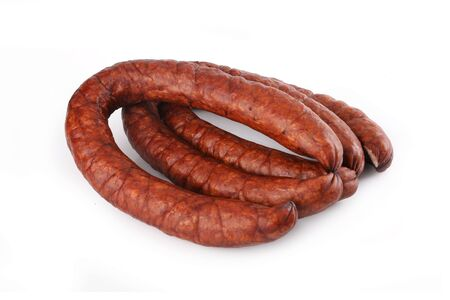 Sausage isolated on white background.