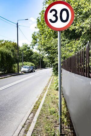 Road sign, speed limit symbol