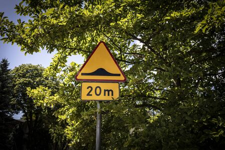 Road sign, street marking in the urban space 写真素材