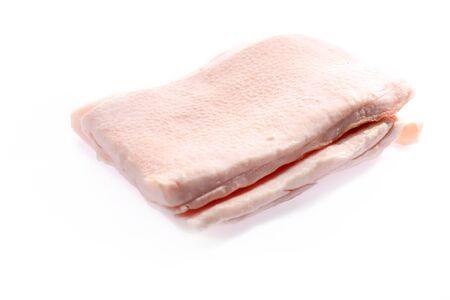 Raw, fresh meat on a white background. Zdjęcie Seryjne