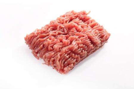 Raw, fresh meat on a white background. Stock fotó