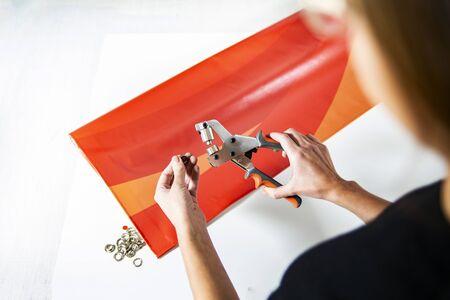 Advertising agency, making an advertising banner