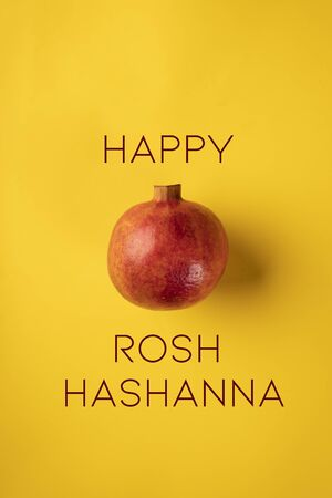 A composition of traditional symbolism on the occasion of the Jewish holiday of Rosh Hashanah