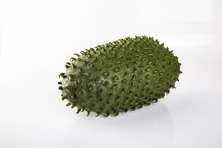 Ripe tropical fruit on a white background.