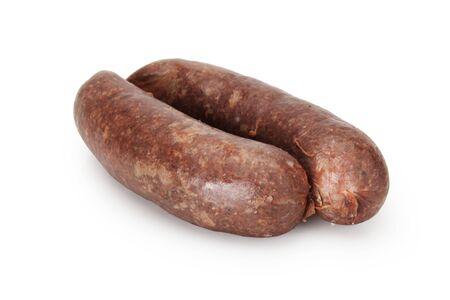 Sausage isolated on white background. Standard-Bild