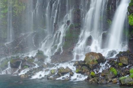 percolate: Beautiful percolating falls near Fuji-San