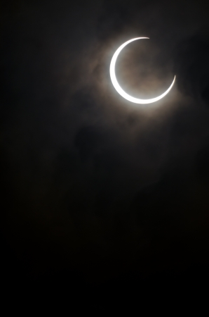 Sighting of a rare annular eclipse in Japan on May 21, 2012 Stock Photo - 13869761