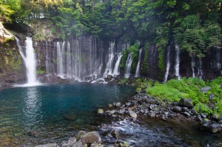percolate: Beautiful percolating falls near Fuji-San.