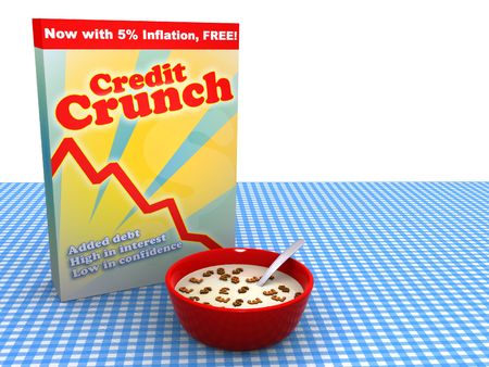 Abstract image of bowl of cereal called Credit Crunch Stock Photo