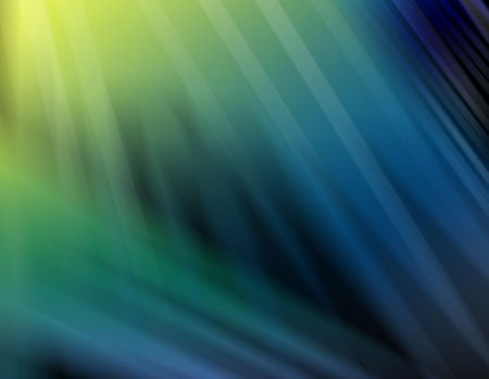 Abstract image of shades of blue, green and yellow