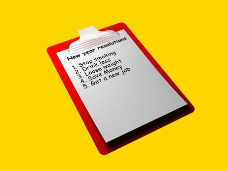 A check list that shows a check list of new year resolutions