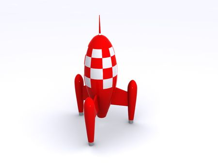 shiney: a shiney red toy rocket