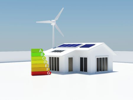 Image of a house with renewable energy sources Stock Photo - 4314313