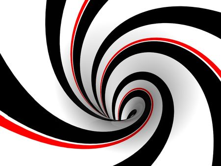abstract retro image of a red, black and white swirl Stock Photo