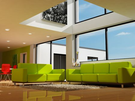 Modern interior decoration Stock Photo