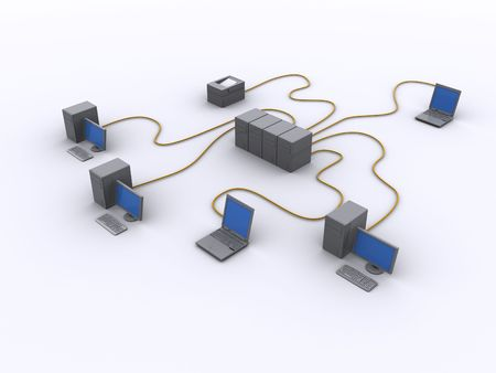 a picture of a wired network diagram Stock Photo - 5262963