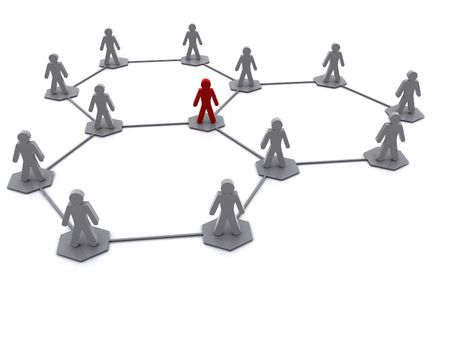 a business team organisation network diagram image Stock Photo - 5262961