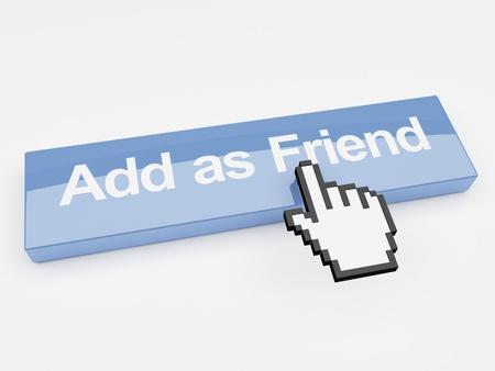 Internet button add as friend social networking