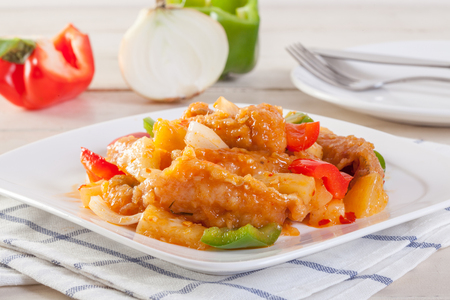 fried  fish spicy sweet and sour sauce