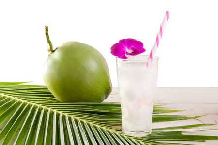 Coconut juice,Drink coconut water