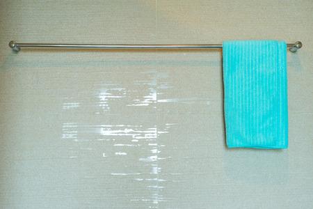 undies: Green towel on washing line.