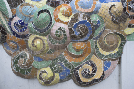 Colorful abstract pattern of the wall  from tile.