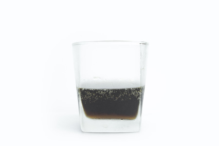 A cup of drink isolated with white background.