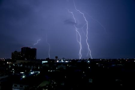 strike of lightning