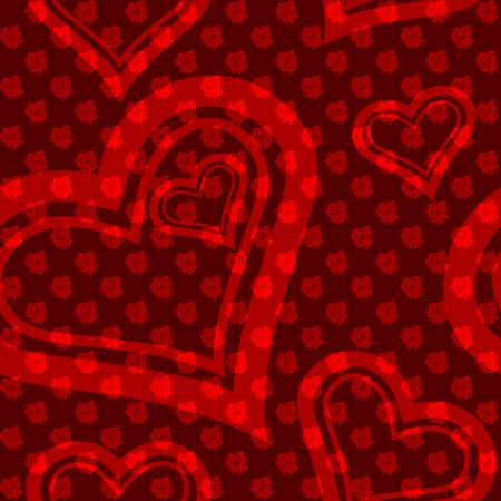 small size: Las patr�n sin fisuras con peque�as rosas y cortes en forma de coraz�n. Los azulejos se pueden combinar perfectamente. Gr�ficos y se agrupan en varias capas para editar f�cilmente. El archivo puede hacerse a escala en cualquier tama�o Vectores