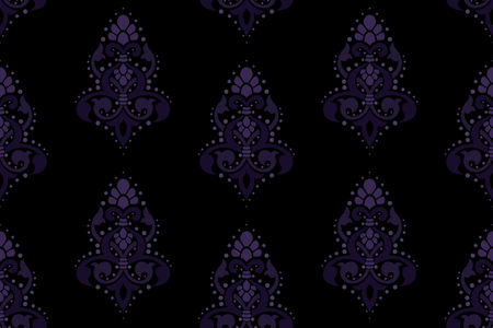 stylish vector background with a classic damask pattern. The tiles can be combined seamlessly. Graphics are grouped and in several layers for easy editing. The file can be scaled to any size.