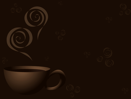 Stylish background with a steaming coffee design. Graphics are grouped and in several layers for easy editing. The file can be scaled to any size.   Ilustração