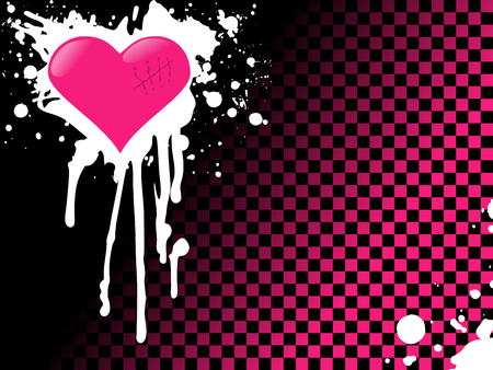 Urban style emo background with bright colors. Graphics are grouped and in several layers for easy editing. The file can be scaled to any size.  Иллюстрация