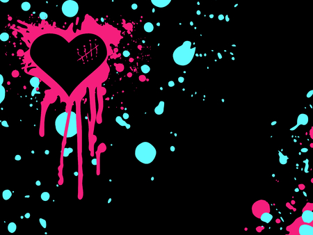 emo: Urban style emo background with bright colors. Graphics are grouped and in several layers for easy editing. The file can be scaled to any size.  Illustration