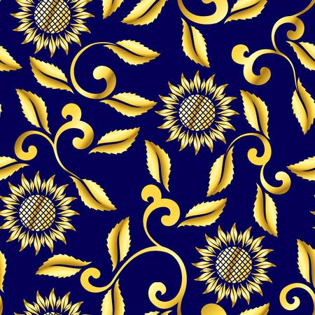 sari: Sin fisuras de girasol y remolinos sari pattern.The baldosas pueden combinarse sin problemas, y gr�ficos se agrupan en varias capas para editar f�cilmente. El archivo puede hacerse a escala en cualquier tama�o.