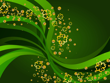 A St. Patrick's background. Graphics are grouped and in several layers for easy editing. The file can be scaled to any size.  Illustration