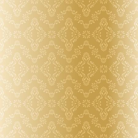 シームレスな金の線条細工のパターン。タイルをシームレスに結合できます。グラフィックをグループ化および簡単な編集のためのいくつかの層。