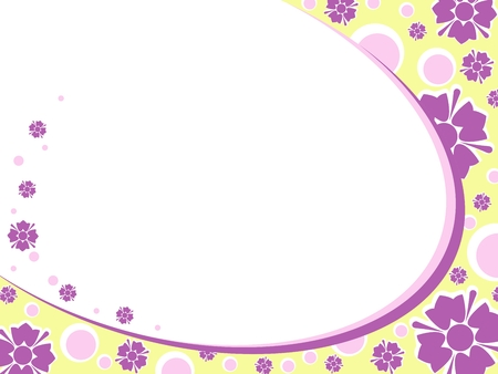 Bright oval Floral background in retro 60's style. Graphics are grouped and in several layers for easy editing. The file can be scaled to any size.