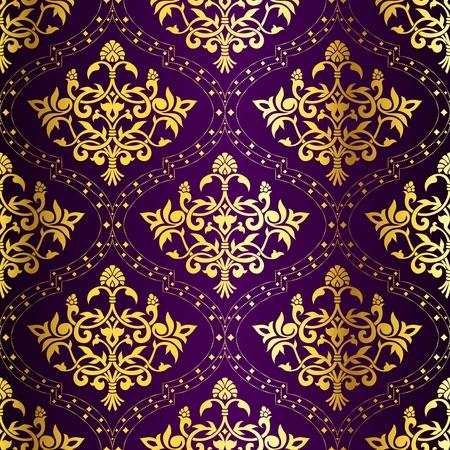 sari: Oro-p�rpura en la India sin fisuras patr�n floral. Los azulejos se pueden combinar perfectamente. Gr�ficos y se agrupan en varias capas para editar f�cilmente. El archivo puede hacerse a escala en cualquier tama�o.
