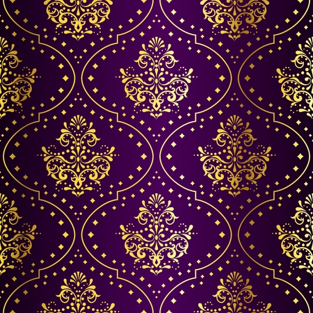 세련 된 벡터 배경 금속 다 패턴 인도 직물에 의해 영감을 된. 타일을 완벽하게 결합 할 수 있습니다. 그래픽 쉽게 편집 할 수 있도록 여러 레이어에 그