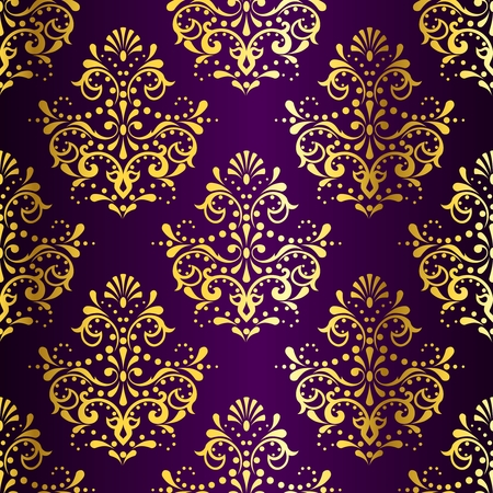 baroque: stylish vector background with a metallic damask pattern inspired by Indian fabrics. The tiles can be combined seamlessly. Graphics are grouped and in several layers for easy editing. The file can be scaled to any size.