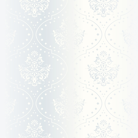 elegant white seamless pattern, prefect for wedding designs. The tiles can be combined seamlessly. Graphics are grouped and in several layers for easy editing. The file can be scaled to any size. Stock Vector - 5034993